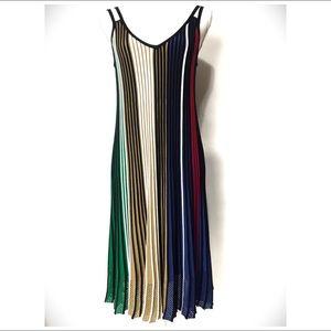 Kenzo Paris Striped Midi Dress NWOT